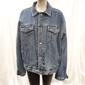 Gap BLUE long sleeved denim Jean Jacket XL